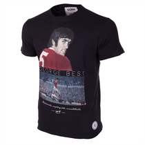 George Best United T-Shirt // Black 100% cotton