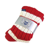 Cashmere Slipper Socks (Red/White)