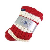 Cashmere Slipper Socks (Red/White)