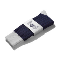 Football Style Ankle Socks (Navy/White)