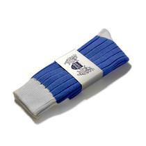 Football Style Ankle Socks (Royal/White)
