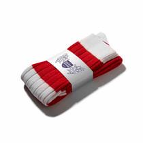 Football Style Long Socks (Red/White)