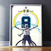 Super 8 Football Print