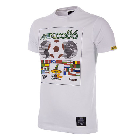 Football Fashion - Mexico 1986 T-Shirt - Panini - White - COPA 1534