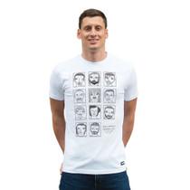 Football Fashion - Badly Drawn Footballers T-Shirt - White - COPA 6778