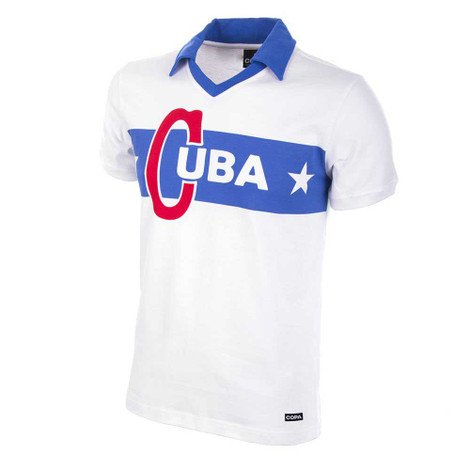 Cuba 1962 Retro Away Shirt - White/Blue - Men's Football Fashion - COPA 580