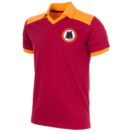 Retro Football Shirts - A.S Roma Home 1980 - Crimson/Gold - COPA 707