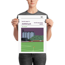 Berwick Rangers Shielfield Park Print (30x42cm)