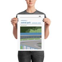 Cowdenbeath Central Park Print (30x42cm)