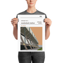 Edinburgh City Meadowbank Stadium Print (30x42cm)