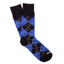 Copa Argyle Pitch Socks (Black/Blue)