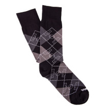 Copa Argyle Pitch Socks (Black/Grey)