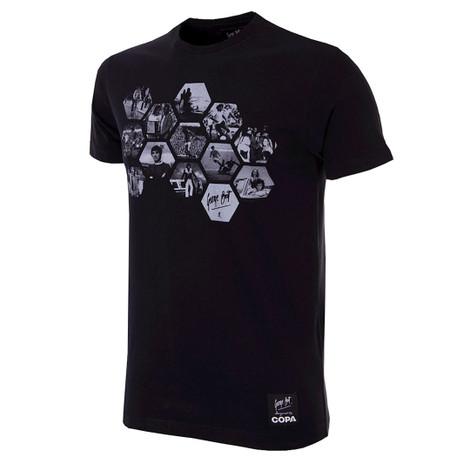 Football Fashion - George Best Hexagon T-Shirt - Black - COPA 6767