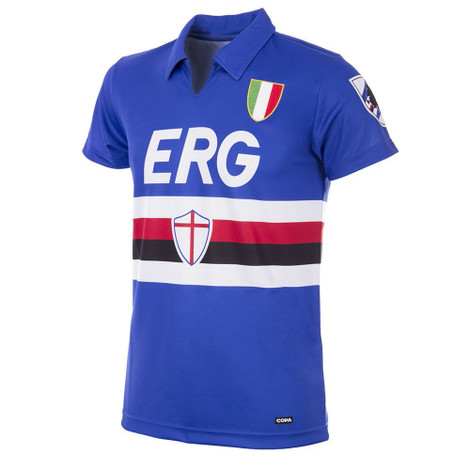 Retro Football Shirts - Sampdoria Home Jersey 1991/92 - COPA 153