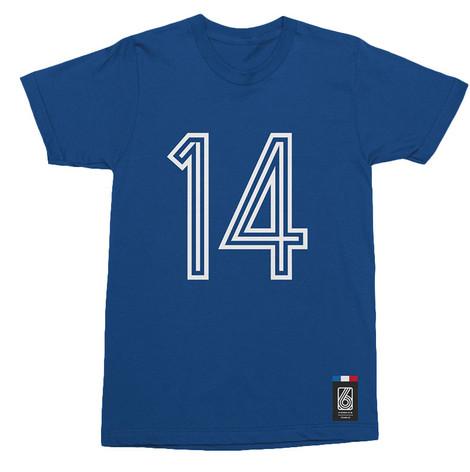 Football Fashion - France Retro World Cup Tigana T-Shirt - Blue