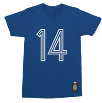 Football Fashion - France Retro World Cup Tigana T-Shirt - Blue