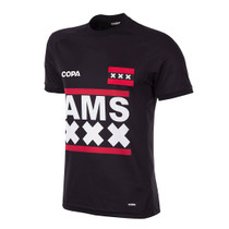 Football Fashion - Amsterdam City Football Shirt - Black - COPA 6798
