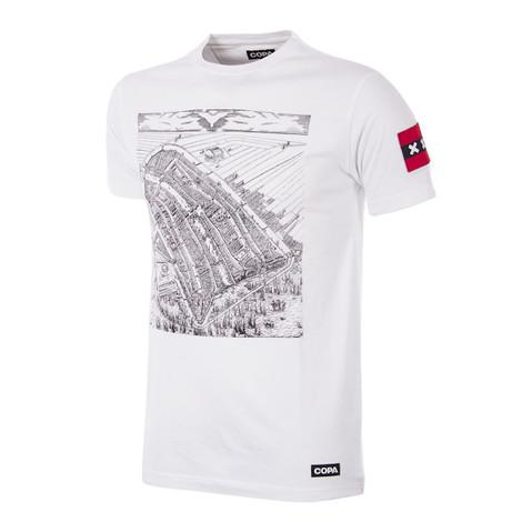 Football Fashion - Amsterdam City Map T-Shirt - White - COPA 6900
