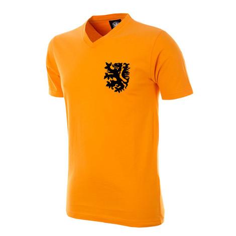Kids Retro Football T-Shirts - Holland Retro V-Neck Tee - COPA 6859