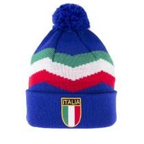 Italy Retro Beanie - Blue - COPA 5050