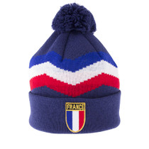 France Retro Beanie - Blue - COPA 5053