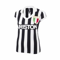 Retro Football Shirts - Juventus Women's Home 1984/85 - Black/White - COPA 5304