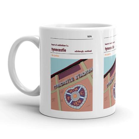 Hearts Tynecastle Stadium Print Mug