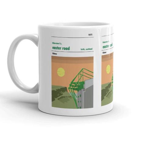 Hibs Easter Road Stadium Print Mug