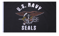 U.S. Navy SEALs Flag (Black)