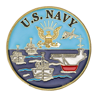 U.S. Navy Logo Ships Challenge Coin