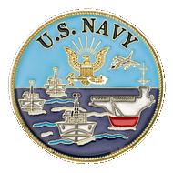 U.S. Navy Logo Ships Challenge Coin