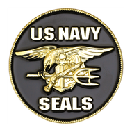 U.S. Navy SEALs Challenge Coin Black