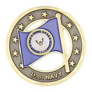 U.S. Navy/American Flag Challenge Coin