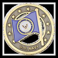 U.S. Navy/American Flag Challenge Coin
