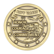 Navy Values Challenge Coin