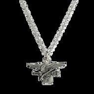 Delicate Chain Necklace w/Trident Pendant