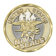 The Only Easy Day Was Yesterday/Sea Air Land Challenge Coin