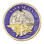 United States Navy SEALs Challenge Coin Blue
