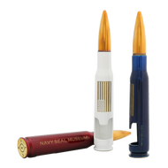"""Navy SEAL Museum's """"American Flag"""" 50 cal Bottle Breacher (Red, White and Blue)"""