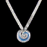 Rhodium Blue Wave Crystal Bracelet, Necklace & Earrings