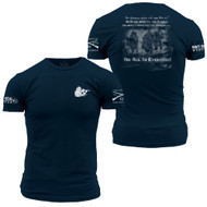 Be Strong When You are Weak Be Brave when You are Scared Be Humble when You are Victorious Be All In Everyday! NAVY BLUE Soft Style Option