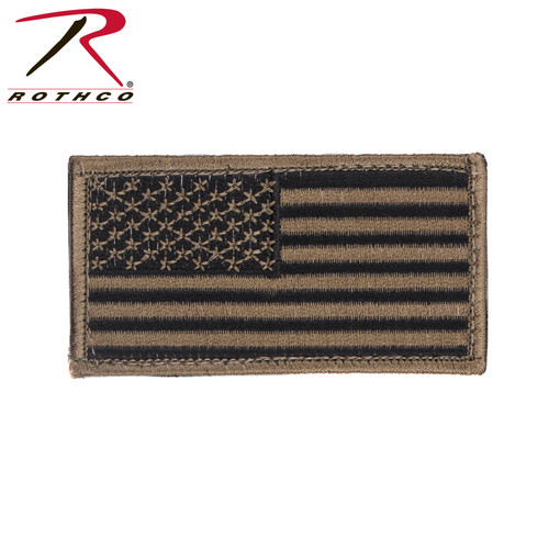 "Rothco's American Flag Patch Features Hook Back And Comes In An Assortment Of Color Options In Classic Red, White & Blue, Silver & Black And Multi-Cam.   American Flag Patch Measures Approximately 1 7/8"" X 3 3/8"""
