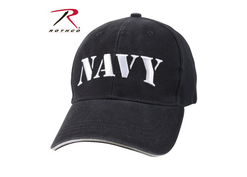 Rothco's Vintage Navy Low Profile Cap is made from a durable 100% washed brushed cotton twill material and features an embroidered Navy insignia on the front panel as well as a hook & loop closure in back for adjustability. This vintage hat is officially licensed by the United States Navy.