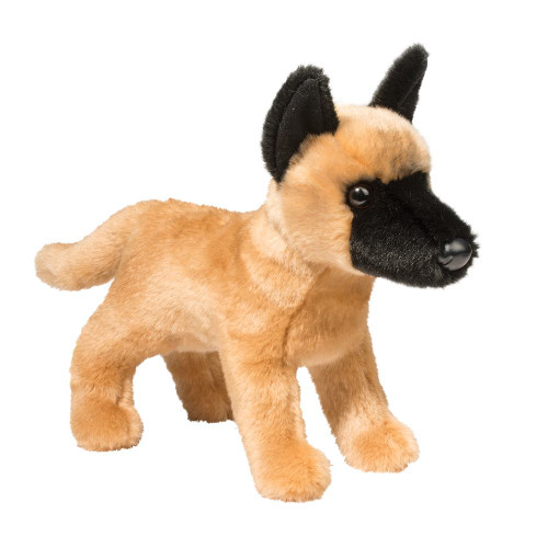 "A lifelike soft fur Belgian Malinois Companion, Klaus  comes with his Museum Multi-Purpose K9 Jacket (not pictured) removable Weight5.8 oz Dimensions11 × 4.5 × 9.5 in Age 24 Months & Up  SIZE (IN) 12"" Long  SIZE (CM) (30 cm)"