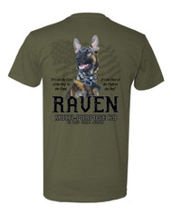 """The Belgian Malinois, also known as the Belgian Shepherd, is the predominant breed utilized by SEAL teams.  Our Working Military K9 'Raven' is rendered on this shirt. Along with the saying:    It's not the size of the dog in the fight, It's the size of the Fight in the Dog""""  Multi-Purpose K9, US Navy SEALs Museum.  Everyone Loves the Paw logo on the front!"""
