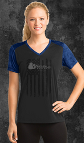 The sublimated digital CamoHex print on the sleeves, shoulders and collar give this moisture-wicking tee a bold, modern look. The main material is polyester that is equipped with an amazing feature called moisture wicking technology and is more effective then ever at keeping you comfortable and dry. Features our Shooter Logo and American Flag on Front