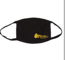 Dry-weave comfortable stretchy mask in black with our logo. Comes in sm/med and lg/xl.