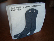 Napkin & Letter Holder with Boot Design