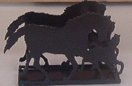 Napkin or Letter Holder with Mare & Colt Design
