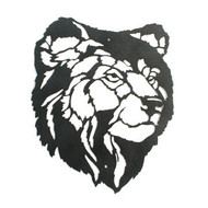 Custom sign or wall art featuring a majestic lion with optional lengths, widths and color powder coat options.